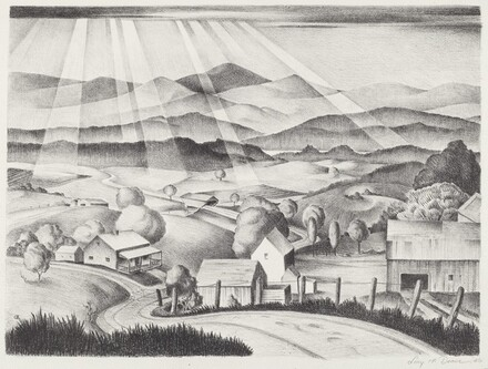 Untitled (Rural Landscape with Covered Bridge)