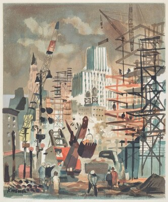 Untitled (Construction Scene, New York)