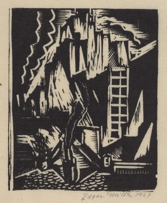Untitled (Village or Town in Mountains)