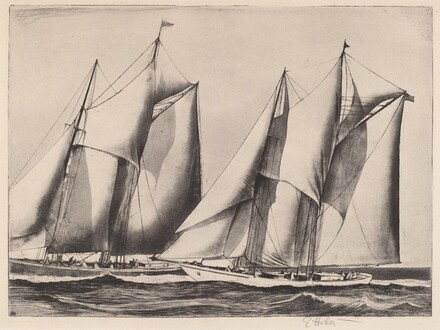 Untitled (Two Yachts Racing)
