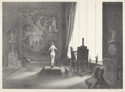 Untitled (Artist and Model In the Studio)