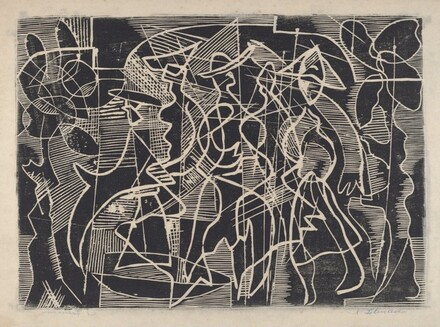 Untitled (Abstraction with Strolling Figures)