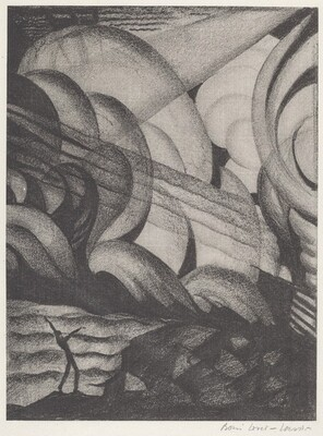 Untitled (Abstraction of a  Figure in Whirlwind)