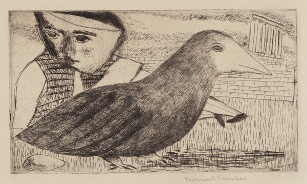 Untitled (Man and Bird)