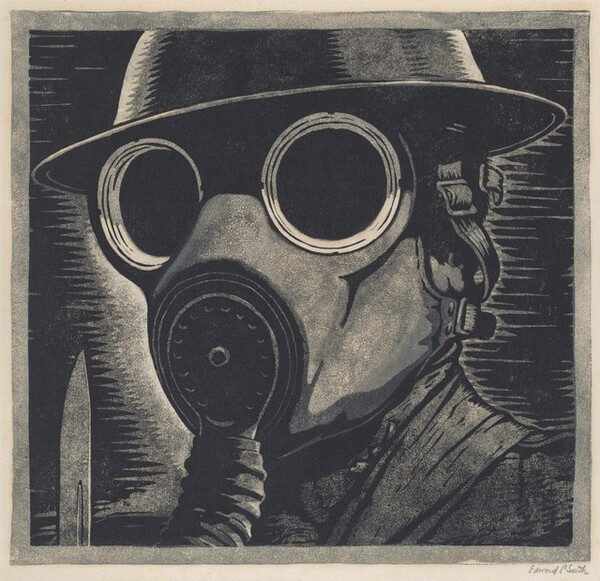 Untitled (Soldier with Gas Mask)