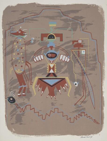Pueblo Pictograph
