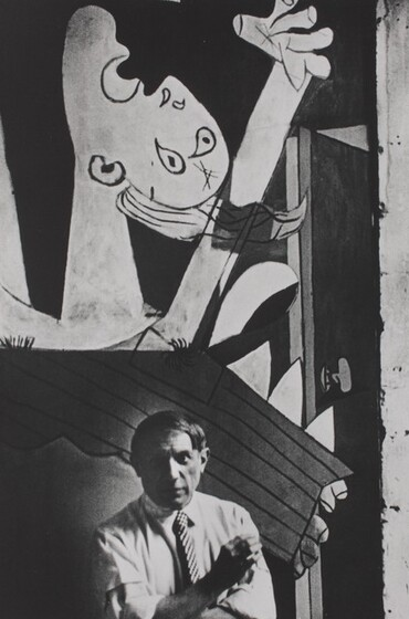 David Seymour (Chim), Pablo Picasso in front of Guernica, Paris, 1937, printed 1982
