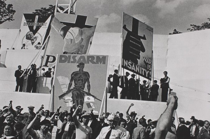 David Seymour (Chim), Anti-War Rally, Saint-Cloud, 1936, printed 1982