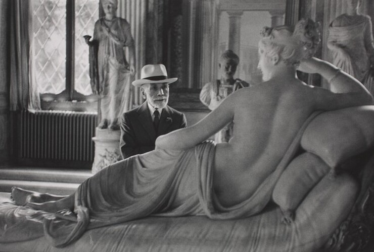 David Seymour (Chim), Bernard Berenson at Ninety, Visiting the Borghese Gallery, Rome, 1955, printed 1982