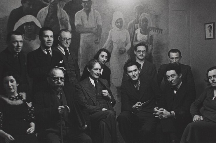 David Seymour (Chim), Henri Barbusse and Left-wing Intellectuals at his Monde Office, Paris, 1935, printed 1982