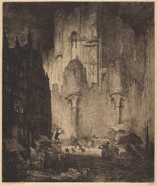 Autour le Chateau des Comtes de Flandre Gand