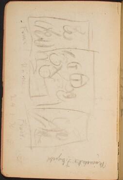 Entwurf für ein Triptychon (Sketch for a Triptych) [p. 26]