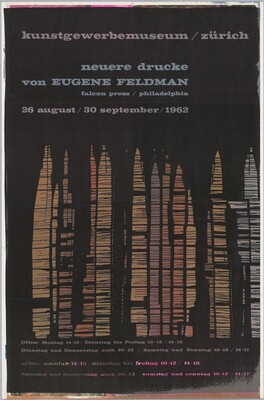 Neuere drucke von Eugene Feldman: Kunstgewerbemuseum, Zürich