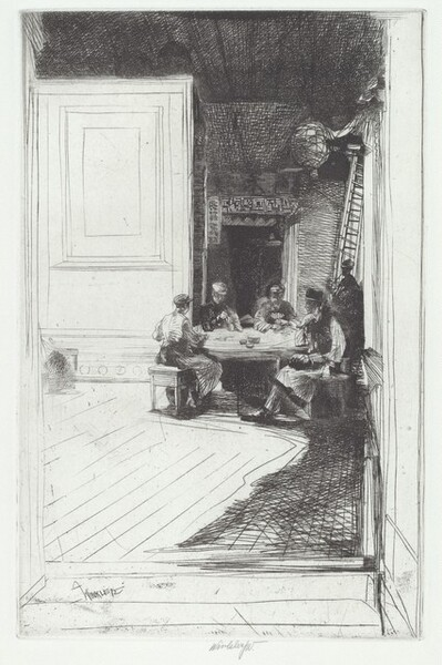 Chinese Card Players (plate C)