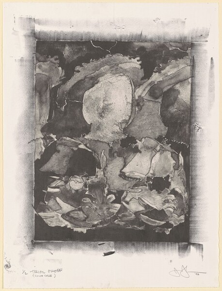 After Holbein (In Portfolio Artists against Torture) [trial proof (chine colle)]