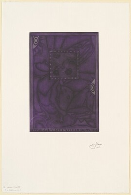 Untitled (Purple Mezzotint) [trial proof C]