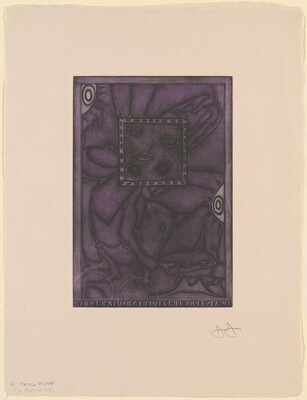 Untitled (Purple Mezzotint) [trial proof D]