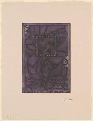Untitled (Purple Mezzotint) [trial proof D]