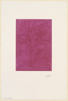 Untitled (Purple Mezzotint) [trial proof H]