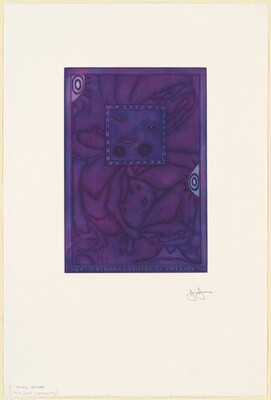 Untitled (Purple Mezzotint) [trial proof I]