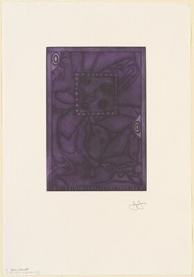Untitled (Purple Mezzotint) [trial proof J]
