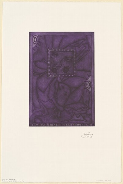 Untitled (Purple Mezzotint) [trial proof K]