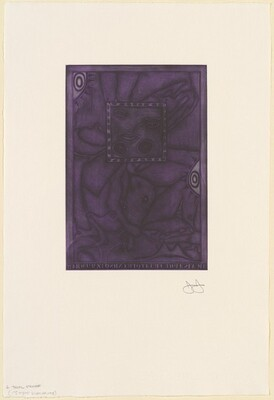 Untitled (Purple Mezzotint) [trial proof L]
