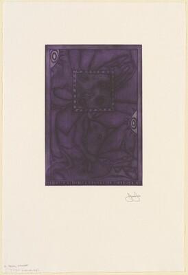 Untitled (Purple Mezzotint) [trial proof L]