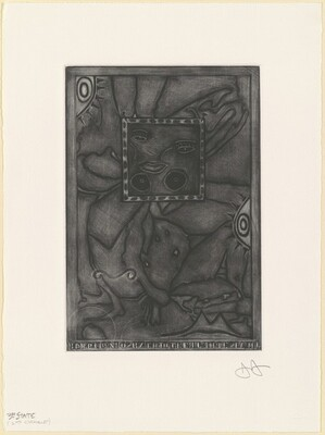 Untitled (Purple Mezzotint) [3rd state 1/2]