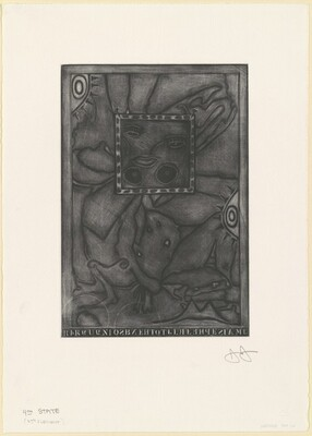 Untitled (Purple Mezzotint) [4th state 1/2]