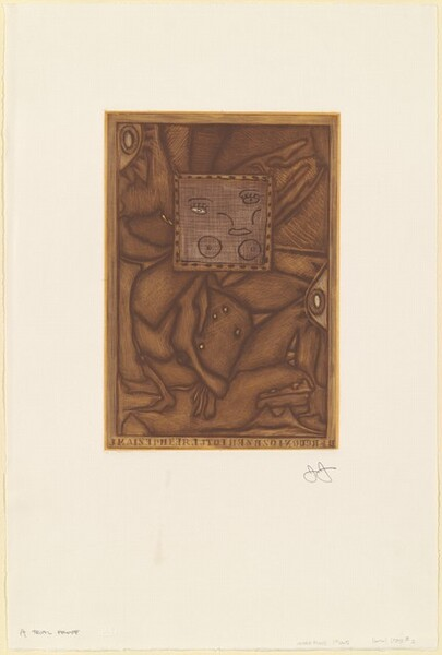 Untitled (Orange Mezzotint) [A trial proof]