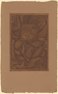 Untitled (Orange Mezzotint) [B trial proof]