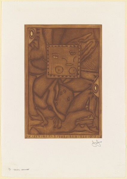 Untitled (Orange Mezzotint) [D trial proof]