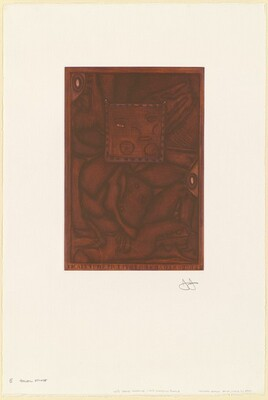 Untitled (Orange Mezzotint) [E trial proof]