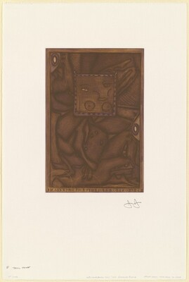 Untitled (Orange Mezzotint) [F trial proof]