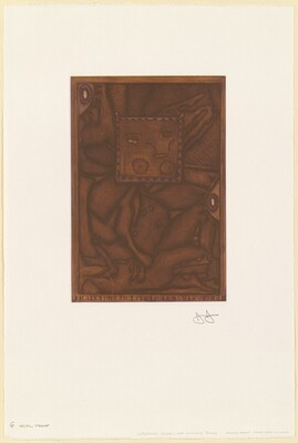 Untitled (Orange Mezzotint) [G trial proof]