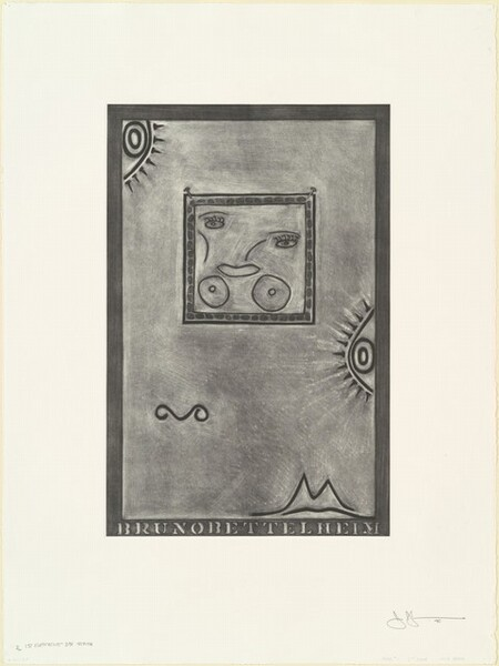 Untitled (White Mezzotint) [1st element 3rd state 1/2]