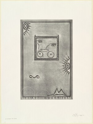 Untitled (White Mezzotint) [1st element 5th state]
