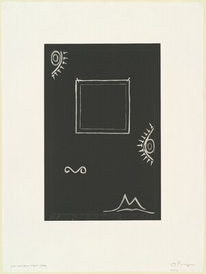 Untitled (White Mezzotint) [2nd element 1st state]