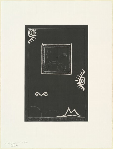 Untitled (White Mezzotint) [2nd element in lback 1/2 final state]