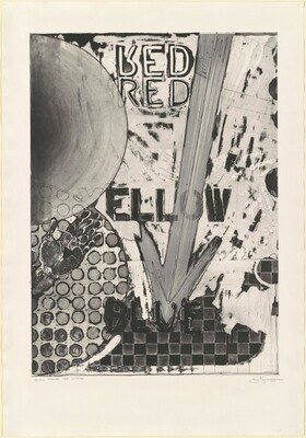 Untitled 1998 (RYB Green/Blue) [Red, trial proof, 3rd state]