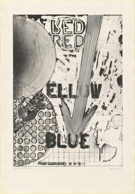 Untitled 1998 (RYB Green/Blue) [Red, trial proof, 2nd state]