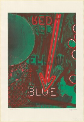 Untitled 1998 (RYB Green/Blue) [Red, trial proof]