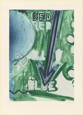 Untitled 1998 (RYB Green/Blue) [Yellow, trial proof C/C red plate]