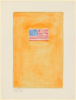 Flag on Orange