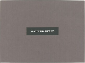 Walker Evans: Selected Photographs