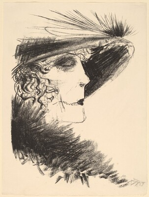 Lady in a Feathered Hat