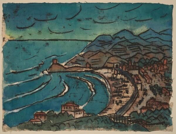 View of the Bay of Bonassola in Cinque Terre