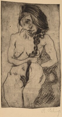 Female Nude with a Pigtail