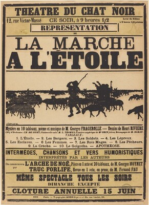 Poster for Le Chat Noir: La march à l'Étoile